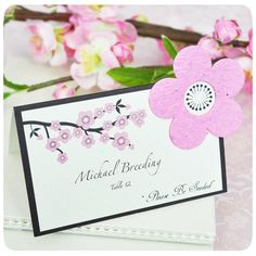 """Please Be Seeded"" Cherry Blossom Plantable Seed Place Cards"