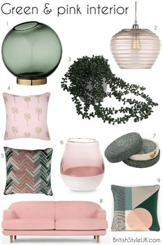 Pink and green interior ideas