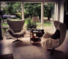 Arne Jacobsen Egg chairs #dansk #design #lifestyle - Loved by @denmarkhouse