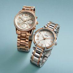 Reloj Guess Mujer W13576l1 Dorado Piedras Original Oficial