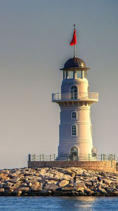 Lighthouse at Port Alanya Turkey. Built in 1913