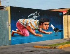 Street art by Jade in Peru