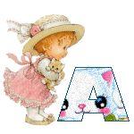 Alfabeto tintineante tierno de nena con gatito. | Oh my Alfabetos!