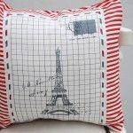 Almohadon 40x40 Torre Eiffel  www.lindacasita.com.ar