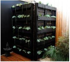 I'm proud of myself for finding this online!  I am so doing this when we landscape our very small yard soon.  This will be how we hide the AC unit AND use the pallets I picked up forever ago ;)