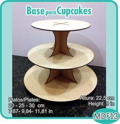 Base para ponquecitos o duces, de tres pisos. / pisos. / Cupcake, sweets or candy stand. - Pedidos/Inquiries to: crearcjs@gmail.com