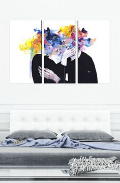 'Intimacy On Display' Art by Agnes Cecile - Available as a Fine Art Print Canvas Set from Eyes On Walls - http://www.eyesonwalls.com/products/intimacy-on-display-canvas-set?utm_source=pinterest&utm_medium=ads&utm_content=Intimacy%20On%20Display%20Canvas%20Set&utm_campaign=Agnes%20Cecile