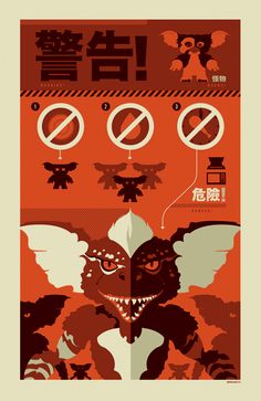#Gremlins. Make sure everyone knows the rules: 1. Don't get them wet. 2. Keep them away from bright lights. 3. Don't ever feed them after midnight. | #infographic