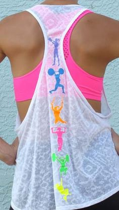 Fitness Moves White Slinglet - Find 65+ Top Online Activewear Stores via http://AmericasMall.com/categories/activewear.html