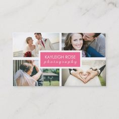 Shop Photography Collage Business Card created by Personalize it with photos & text or purchase as is! Photography Collage, Rose Photography, Photography Branding, People Photography, Photography Business, Unique Business Cards, Business Card Size, Professional Business Cards, Photo Collage Gift
