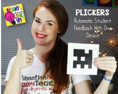 PLICKERS - Do you have at least one device (iPad, iPod) in your classroom, even if it's your own? Then you have a way to get automatic feedback from each of your students in a fun way that keeps all of your students accountable (no more straining your eyes to see every single individual whiteboard!).: