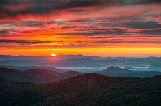 October Sky - Blue Ridge Parkway #NC landscape #photography by Dave Allen www.daveallenphotography.com