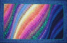 My next quilting adventure: Auroa Borealis wall hangings.     Use this as a guide!