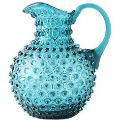 turquoise hobnail pitcher. This would be a great addition for my blue glass collection.