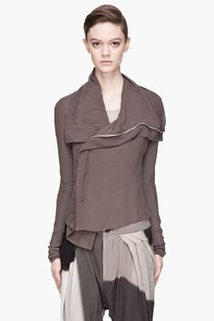 """RICK OWENSRick Owens: """"It boils down to construction, creating my own language from the inside out, but always keeping my signature,"""" he explains. """"Clothes are supposed to be about experience—the damage, the patina, accepting it and enjoying it, making it part of life. We all get impatient when things are too prim."""""""