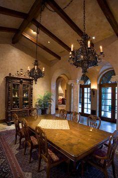 Dining Photos Old World,tuscan,mediterranean,spanish Decor Design, Pictures… Spanish Home Decor, Spanish House, Spanish Colonial, World Decor, Tuscan Design, Tuscan House, Hacienda Style, Mediterranean Decor, Tuscan Decorating