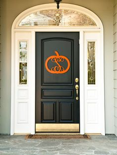 Pumpkin Monogram Fall Decoration for Front Door or Wall - Unfinished Wood, (http://www.thecutekiwi.com/single-initial-pumpkin-monogram-fall-decoration-unfinished/)
