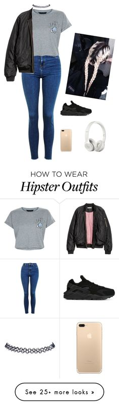 """random"" by haileypariswatson on Polyvore featuring Topshop, Beats by Dr. Dre, Wet Seal, NIKE and New Look"