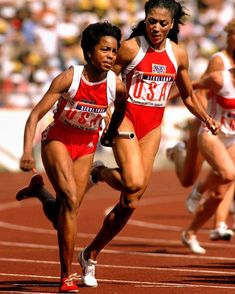 """In the spirit of the Olympics I figured I'd post my cousin and former 100m world record holder, Evelyn Ashford, as she ran with Florence Griffith-Joyner aka """"Flo-Jo"""" (current record holder) in the 4x100m relay to win yet another gold medal back in 1988! Pretty cool to have a cousin that's a 4 time Olympic gold medalist!  #EvelynAshford #FloJo #1988 #Olympics #Seoul #SouthKorea  #ThrowbackTuesday"""