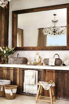 Rustic Home Decor Rustic Bathroom: New Zara Home Spring – Summer 2015 Collection Rustic Bathroom Designs, Modern Farmhouse Bathroom, Rustic Bathrooms, Modern Bathroom Design, Bathroom Ideas, Farmhouse Chic, Budget Bathroom, Bath Design, Farmhouse Design