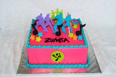 Zumba theme cake by Posh Party Cakes on Facebook.