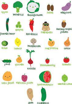 veggie fruit alphabet | Flickr - Photo Sharing!