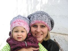 Mom and Daughter Set of Two Beanie Hats  Warm Hat  by HatsByNataly