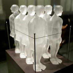 A Captive Audience? Cast glass, wood and metal, David Reekie, (b.1947), made Norwich, UK, 2001 Gift of Paul Bedford (Museum no.C.112–2000)