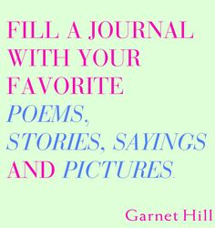 Journals can be a great way to vent but what about filling one with all your favorite things? #inspiration
