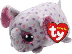 45473c596b9 TY Teeny Tys Trunks the Elephant One Size Pink grey