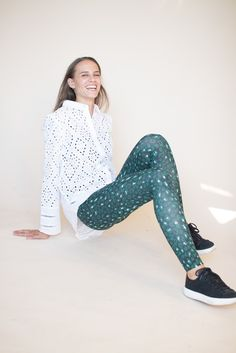 Helen - evergreen leopard green tights leggings by FWSS Green Tights, Tight Leggings, Evergreen, Trousers, Sporty, Shopping, Style, Fashion, Trouser Pants