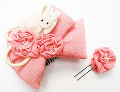 Usagi kanzashi ~ Year of the Rabbit
