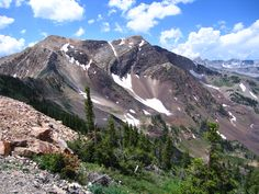 American Fork Twin Peaks 11,489'.  I hiked both of them on July 7, 2012.  Wasatch Mountains, Utah.  Photo by John Davies