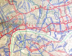 London map. London has many networks – roads, tube trains, electricity, water – but there is another key one, one which was very important in allowing London to become as large as it is, thanks to crucial engineering work led in Victorian times by Joseph Bazalgette – the sewer network. A complex sequence of pipes carries London's waste, and surface runoff water, generally eastwards (i.e. downwards), often ending up at Crossness (south of the river) or Beckton (north of the river). In…