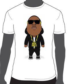 Biggie Smalls Cartoon T-Shirts 100% Combed Ring-Spun Cotton Screen-Printed Design #hiphop #tshirts #biggie #mensfashion #tees