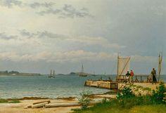Udsigt fra Kalvehave Færgebro til Koster. C.W. Eckersberg, 1831.