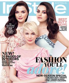 Rachel Weisz, Mila Kunis and Michelle Williams cover our March 2013 issue. Read more here: http://www.instylemag.com.au/Article/Special-Offers/Inside-InStyle/Rachel-Weisz-Mila-Kunis-and-Michelle-Williams