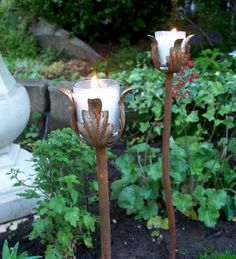 Outdoor Wedding Decor Steel Candle Holders For by MiscKDesigns, $28.00