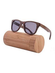 a4b0c3b68b Polished Wood Sunglasses Wooden Wayfarers Polarized Flash Mirror Lens with  Case- Z6016(walnut