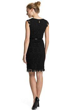 Esprit / Etui-Kleid aus gehäkelter Spitze + Gürtel