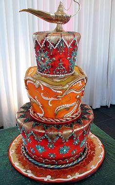Disney Wedding Cake!!!   Alladin!!!