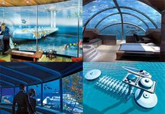 Underwater hotel in Fiji. Yes, please. I'd love to sleep on the bottom of the ocean.