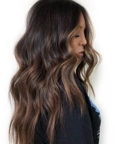221 Hairstyles For Women Fall 2020 « inspiredesign hairstyle hairstyleideas haircolor 85617657914734 Golden Brown Hair Color, Chocolate Brown Hair Color, Light Brown Hair, Brown Hair Colors, Long Brown Hair, Brown Hair Balayage, Hair Color Balayage, Reverse Balayage, Dark Balayage