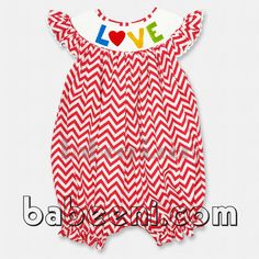 valentine's day smocked dress