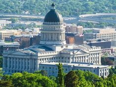 Photo: the Utah State Capitol, Salt Lake City, Utah. Credit: Jkinsocal; Wikimedia Commons. Salt Lake City, Utah Homes For Sale, Places To Travel, Places To Visit, Capitol Building, United States Travel, Find Picture, Ten, Paris Skyline