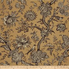 IQSC Birdsong Toile Tan from @fabricdotcom Designed by Kathy Hall with Jo Morton and IQSC (International Quilt Study Center) for Andover, this cotton print is perfect for quilting, apparel and home décor accents. Colors include gold, black and cream.