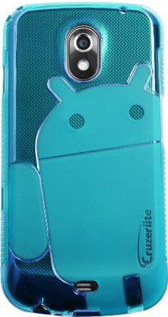 Teal - Cruzer Lite Androidified A2 High Gloss TPU Soft Gel Skin Case - For Galaxy Nexus by Samsung (Verizon Wireless) [Cruzer Lite Retail Packaging]