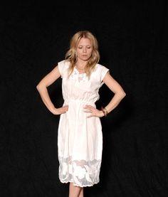 Vintage 70s White Cutout Lace Midi Dress by redpoppyvintageshop