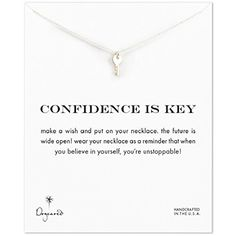 Dogeared Confidence Is Key Cute Key Necklace Sterling Silver 16 *** See this great product.