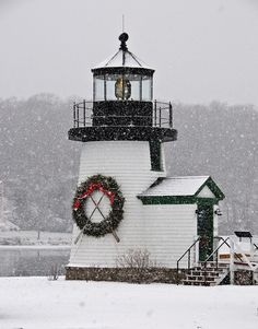 Snowy light. Photo © Mystic Seaport